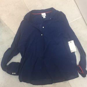 Stylus blue button down shirt xl nwt
